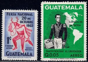 1953-74 Guatemala SC# C188, C507 - Simon Bolivar - 2 Different Stamps - M-H