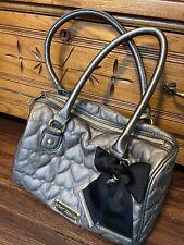 BETSEY JOHNSON Womens Black Bow Quilted Handbag Purse Shoulder Bag
