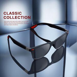 Retro Classic Polarized Sunglasses Men's Square Outdoor Driving Eyewear Glasses