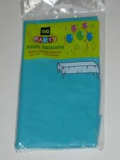 """TABLE COVER PLASTIC PROTECTOR LARGE 54"""" X 108"""" PARTY GREEN TEAL C MY OTHER ITEMS"""