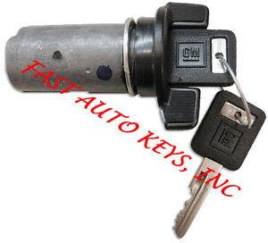NEW CHEVROLET GM OEM IGNITION KEY SWITCH LOCK CYLINDER W/2 LOGO KEYS 701400