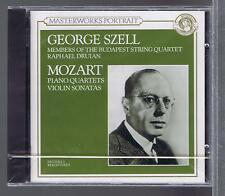 MOZART CD (NEW) MASTERWORKS SZELL DRUIAN PIANO QUARTETS VIOLON SONATAS