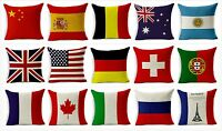 """Vintage Cotton Linen Cushion Covers or Filled Cushions British Flag -18"""" / 45cm"""