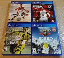 Playstation 4 PS4 sports game lot. NBA Live 15. NBA 2K17. FIFA 17. Steep