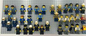 Lego City Lot (36 Minifigures- Cops, Crooks/Robbers, & Fire/EMT)- Good Condition