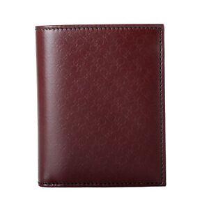 Salvatore Ferragamo Men's Wine Logo Decorated 100% Pebbled Leather Bifold Wallet