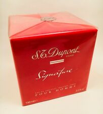 S.T. DUPONT SIGNATURE Edt 100ml Vapo VINTAGE & SEALED PERFUME!