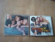 2 X ATOMIC KITTEN CD SINGLES - WHOLE AGAIN AND ETERNAL FLAME