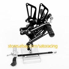 For Honda CBR600F F4 1999 2000 F4i 2001-2007 2002 CNC Black Rearset Footpeg Rear