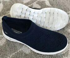 Skechers Go Walk Lite Harmony Women's 7 Navy Knit Mesh Flexible Loafer GoGaMax