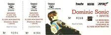 RARE / TICKET BILLET DE CONCERT - DOMINIC SONIC LIVE A PARIS 1994 / COMME NEUF
