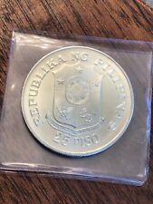 1974 Philippines 25 Piso Silver Coin 25th Anniversary BU/UNC - See Our Others