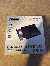 ASUS USB 2.0 Black External Slim CD/DVD Writer Model SDRW-08D2S-U Window/Mac