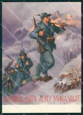 Militari IX Reggimento Alpini Boeri Tafuri FG cartolina XF0884