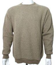Ermenegildo Zegna Men's L Large 52 Beige Tan Sweater 100% Cashmere Crewneck EUC