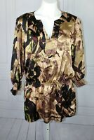 Womens Calvin Klein Size OX  Gorgeous Tunic Peasant Blouse