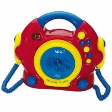 AEG Bambini CD PLAYER PORTATILE 2 microfoni Musica Impianto Karaoke Radio