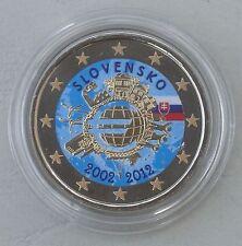 2 Euro Slowakei 2012 10 Jahre Euro in Farbe unz