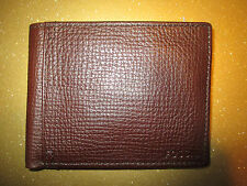 NEW FOSSIL Men's Wallet ID BIFOLD LEATHER BROWN Coin Pouch