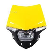 Yellow UFO Enduro Headlight Fairing Kit Dirtbike Scooter Streetfighter Universal