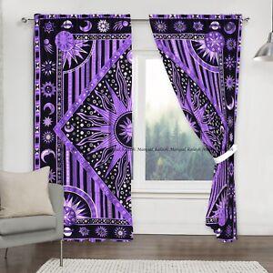 Sun mandala window curtain indian hippie drape hanging balcony home valances set