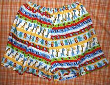 ADULT BABY STYLE  SHORT WITH HIDDEN DIAPER COVER PLASTIC PANTS JUNGLE ANIMALS