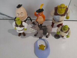 Large Lot Of Shrek Toys McDonalds And Others. Puss In Boots