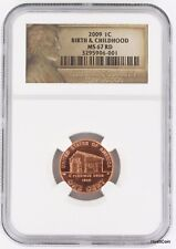 2009 Lincoln Birth & Childhood Bicentennial Cent Penny 1C NGC MS67RD