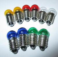 Lampes de Rechange Filetage Vis 11mm - E10 - 19V - Couleur au Choix 10 X, Neuf