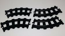 Playmobil 6954 Curve Track Sections 123 Kids Train Geobra 1990 Black Plastic