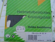 HM Kreissägeblatt 130x2,4x20 ZZ10