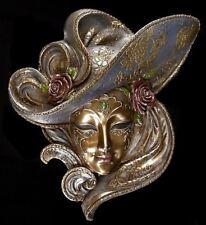 Venezianische Maske - Rosa - Veronese Wand Deko Venedig Karneval