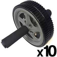 10 x doppia ADDOMINALI CORE esercizio RULLO RUOTA FITNESS FORZA EXERCISER
