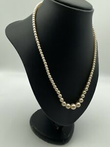 vintage Pearls 50's Faux Knotted Enpointe Very Rare! 50cm