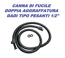 TUBO FLESSIBILE DOCCIA VASCA CM.150 CANNA DI FUCILE OTTONE DOPPIA AGGRAFFATURA