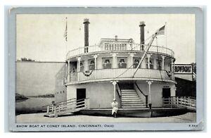 Postcard Show Boat at Coney Island, Cincinnati OH Ohio U5