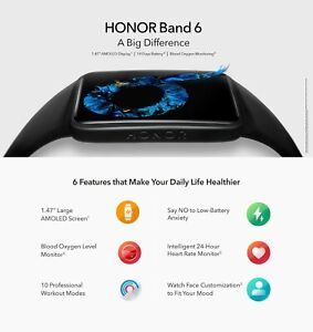 Huawei HONOR Band 6 Watch Fitness Tracker Bracelet Waterproof Smartwatch