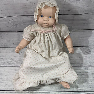 6/9 mos/mios Big Baby Ceramic Stuffed Doll Vintage Toy Realistic Collectible