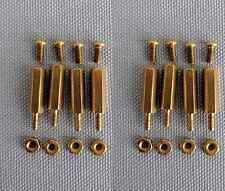 Two sets of 2.5mm x 15mm brass spacer kit for Raspberry Pi HATs / boards