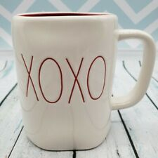 """Rae Dunn LL """"XOXO"""" Red Letter Mug Red Inside - Perfect for Valentine's Day - New"""