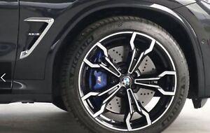 BMW X3M F97 2019 Chrom & Schwarz Luft Kanal / Seite Belüftung