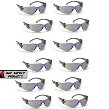PYRAMEX INTRUDER SAFETY GLASSES BLUE MIRROR LENS SUNGLASSES S4175S Z87+ (12 PR)