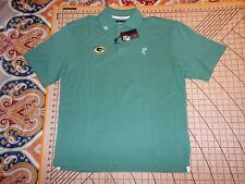 MENS SMALL PALE GREEN ASHWORTH PACKERS ADORNED SHIRT + NFL HAT - NWT
