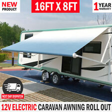 NEW Electric Awnlux Caravan Awning Roll Out 16FT X 8FT Italian Designed RV