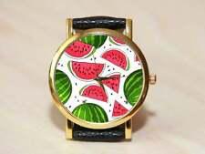 Watermelon watches, women's watch, men's watches, red watches, handmade watches,