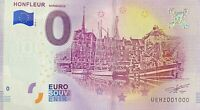 BILLET 0  EURO HONFLEUR NORMANDIE  FRANCE  2018  NUMERO 1000