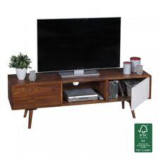 TV Lowboard 140 cm Massiv Holz Sheesham Landhaus 2 Türen & Fach HiFi Regal
