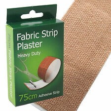 C.M.S Heavy Duty Flexible Fabric Dressing Long Plasters Strip Roll 75 x 7.5cm