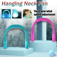 USB Rechargeable  Portable Sport Neck Hanging Fan Mini Electric Air  h y
