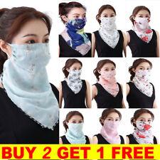 Multi Use Bandana Balaclava Chiffon Summer Face Mask Mouth Neck Snood Scarf UK